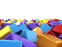 Abstrakt färgrika kuber Arkivbild