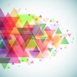 Abstrakt färgrika trianglar Arkivbild
