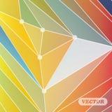 Abstrakt färgrika trianglar Fotografering för Bildbyråer