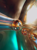 abstrakt färgrikt glansigt metalliskt 3d Arkivfoton
