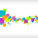 Abstrakt färgrikt kvadrerar bakgrund Fotografering för Bildbyråer