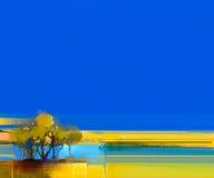 Abstrakt färgrikt landskap för olje- målning på kanfas royaltyfri bild