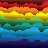 Abstrakt färgrikt papper 3d fördunklar bakgrund (bakgrunden) stock illustrationer