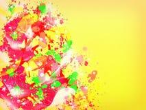 Abstrakt färgrikt plaskar bakgrund Royaltyfria Foton