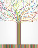 Abstrakt färgrikt träd från linjer. Vektor stock illustrationer
