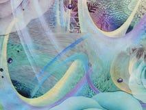 abstrakt färgrikt tyg Royaltyfri Fotografi