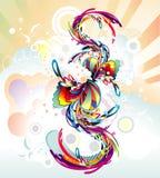 abstrakt färgsammansättning Arkivbild