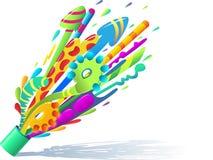 abstrakt färgstänk Royaltyfria Bilder