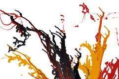 abstrakt färgstänk Arkivfoton