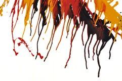Abstrakt färgstänkoljefärger Arkivfoton