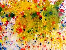abstrakt färgstänkvattenfärg Royaltyfri Bild