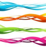 Abstrakt färgvåg Fotografering för Bildbyråer