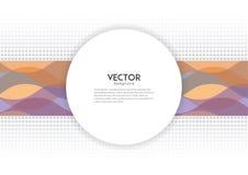 Abstrakt färgvåglinje med det vita banret Royaltyfri Fotografi