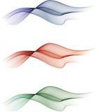 abstrakt färgwaves vektor illustrationer