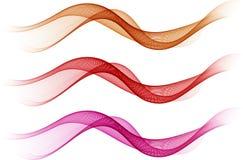 abstrakt färgwaves stock illustrationer