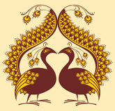 abstrakt fågelpåfågelvektor Arkivbild