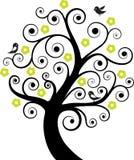 abstrakt fågeltree Arkivfoton