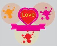 Abstrakt förälskelsesymboldesign royaltyfri illustrationer