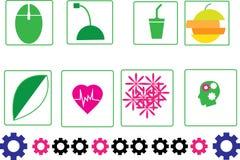 Abstrakt förälskelsesymboldesign vektor illustrationer