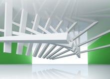 abstrakt för bakgrundslokal för arkitektur 3d Interior Arkivbilder