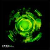abstrakt för cirkeleps för bakgrund 10 techno Arkivbild