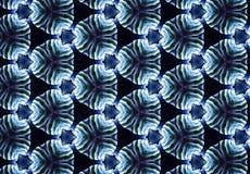 Abstrakt för cirkelmodell för blå svart tapet Arkivbilder