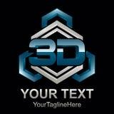 Abstrakt för formvektor för text 3d illustration för logo för symbol för tolkningdesign för form 3d vektor Arkivfoto