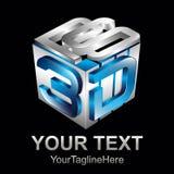 Abstrakt för formvektor för text 3d illustration för logo för symbol för tolkningdesign för form 3d vektor Fotografering för Bildbyråer
