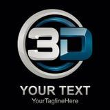 Abstrakt för formvektor för text 3d illustration för logo för symbol för tolkningdesign för form 3d vektor Royaltyfri Bild