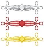 Abstrakt för garneringdesign för tappning 3d beståndsdel Vektor Illustrationer