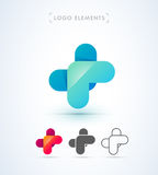 Abstrakt för origamistil för bokstav X mall för logo Applikationsymbol Royaltyfri Foto