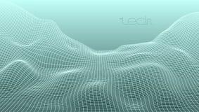 Abstrakt för rasterterräng för 3D Digital bakgrund för landskap Arkivbild