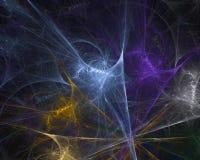 Abstrakt för vetenskapsglöd för design modern kurva, ljus digital designbakgrund, fractal, maktvetenskap stock illustrationer