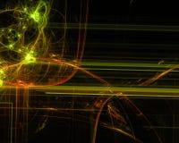 Abstrakt för vetenskapsmodell för design modern kurva för glöd, ljus digital designbakgrund, fractal, maktvetenskap stock illustrationer