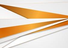 Abstrakt företags bandbakgrund för grå färger och för brons royaltyfri illustrationer