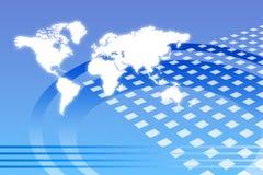 abstrakt företags tillväxt över hela världen Royaltyfria Bilder
