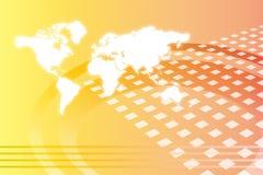 abstrakt företags tillväxt över hela världen Arkivbild