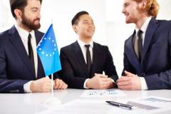 abstrakt förhandlingar för modell för affär 3d Royaltyfri Bild