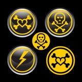abstrakt farliga symboler Arkivbilder