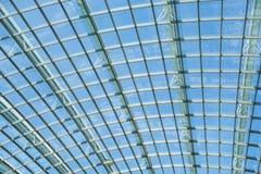 Abstrakt fasad för exponeringsglas för stålstruktur Royaltyfri Fotografi