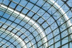Abstrakt fasad för exponeringsglas för stålstruktur Royaltyfria Foton