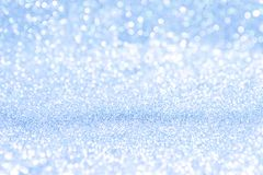 Abstrakt ferie för jul för bokeh för bakgrundsblåttljus royaltyfri foto