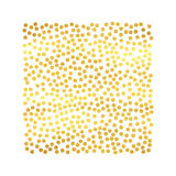 Abstrakt feriebakgrund med hand drog partiklar Ljus guld- mall för prickfyrkantram vektor Arkivbild