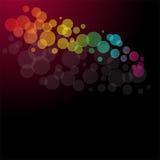 abstrakt ferielampor Arkivfoton