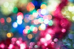Abstrakt festlig bakgrund med ljus bokeh Royaltyfri Fotografi