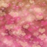 Abstrakt festlig bakgrund med rosa hjärta Royaltyfria Bilder