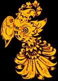 abstrakt fågelguld Royaltyfri Fotografi