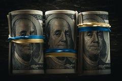 abstrakt finansiell bakgrundssedeldollar royaltyfri foto
