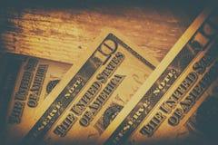 abstrakt finansiell bakgrundssedeldollar Arkivbilder