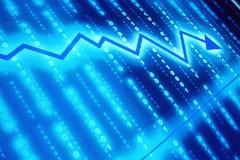 Abstrakt finansiell graf stock illustrationer